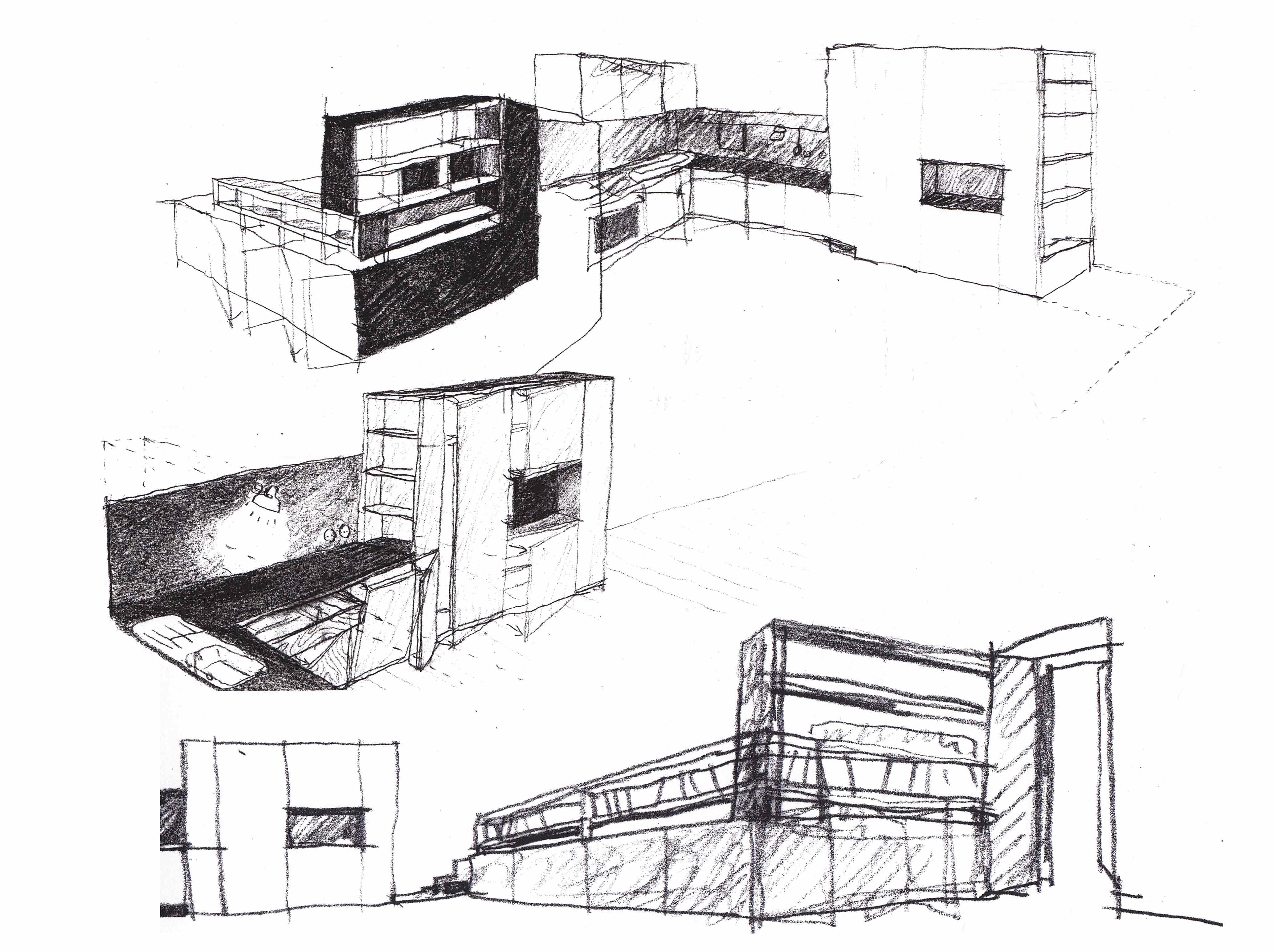 Mehdi zannad r alisations for Plans de cuisine et dessins