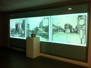 3 projecteurs sur film tendu, le carnet original sous écrin
