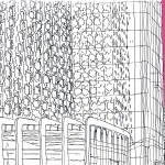 Mehdi Zannad, Dessin, Paris, La Défense - Feutre et couleur informatique