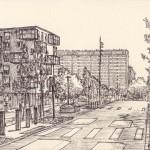 urbanisme, dessins, Mehdi Zannad