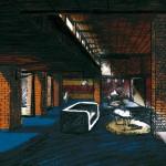 Dessin Mehdi Zannad, Story board pour Diamand Noir de Arthur Harari 2015 - Graphite et couleurs informatiques sur papier vergé, 20 x 37 cm