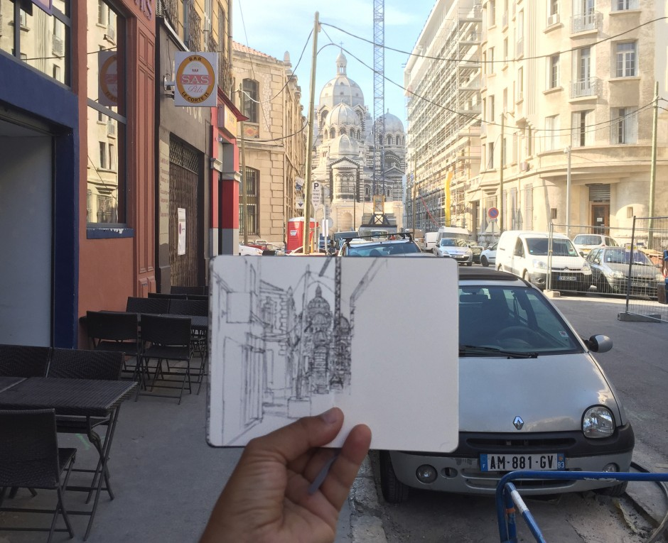 Marseille-Major-dessin-carnet-work-in-progress-Mehdi-Zannad