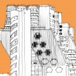 Mehdi Zannad, Dessin, Paris, les Orgues de Flandres - Feutre et couleur informatique