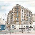 illustrateur, Mehdi Zannad, dessins, immobilier, Saint-Ouen